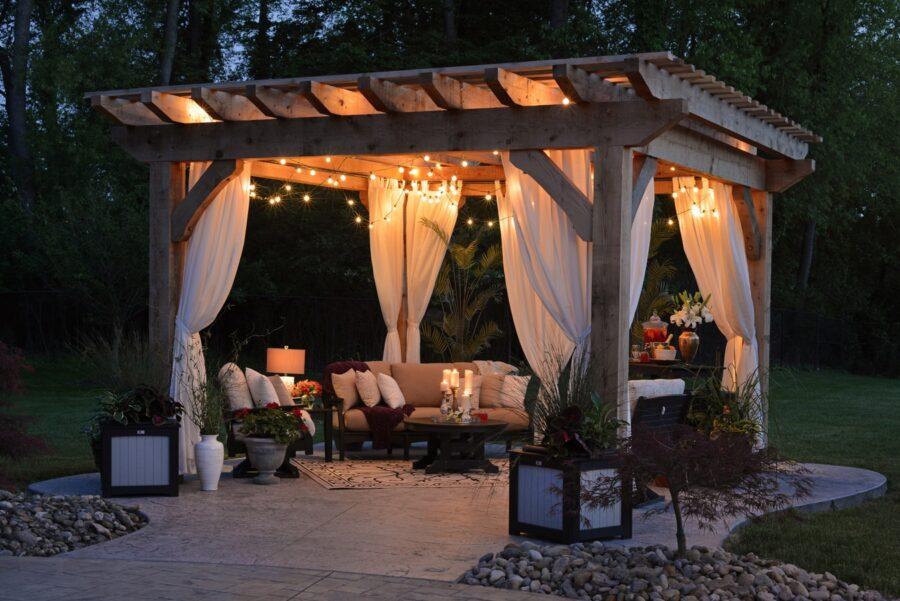 aménagement jardin extérieur maison