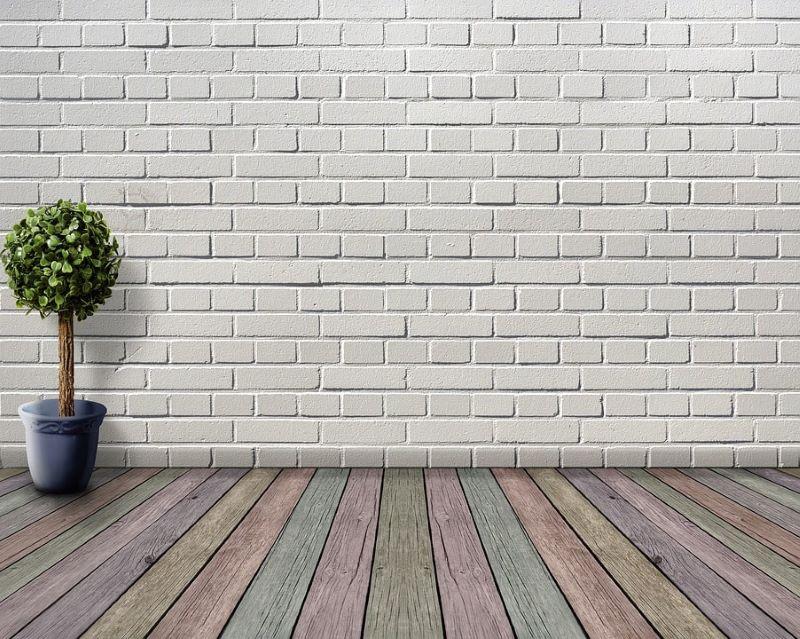 Panneau mural décoratif imitation brique blanche