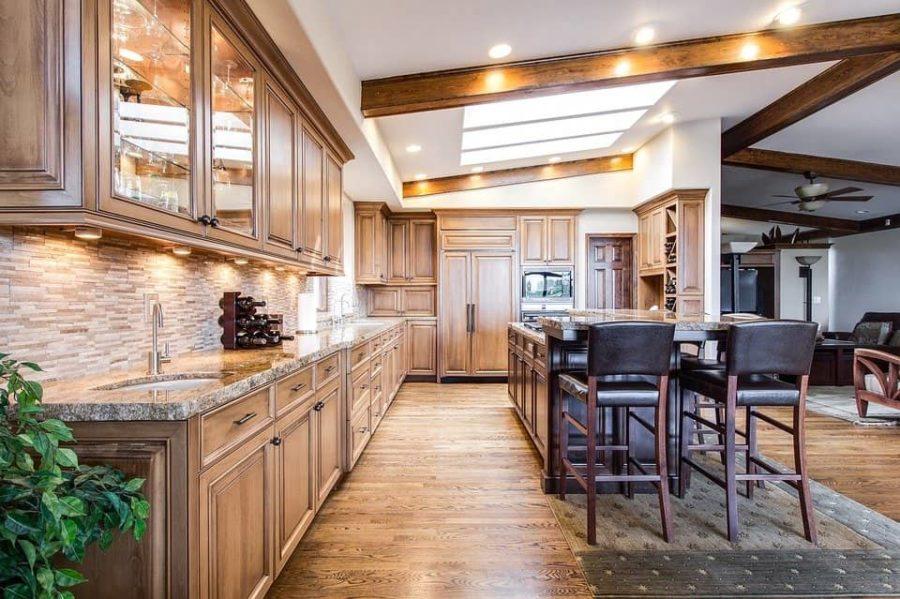 Décoration intérieur maison cuisine bois