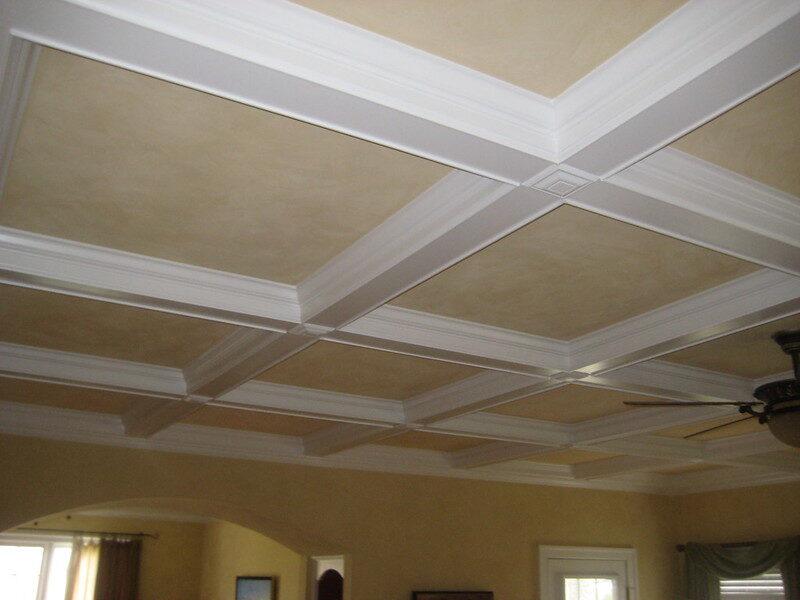 rénovation en plafond modulaire