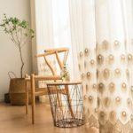 rideaux voilages dans maison
