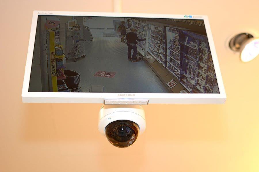 Caméra vidéosurveillance magasin