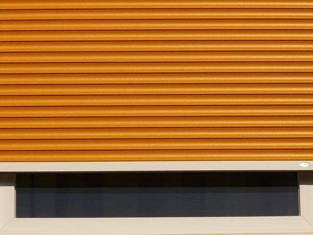 Volet roulant orange